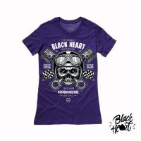 BLACK HEART  PISTON SKULL PURPLE